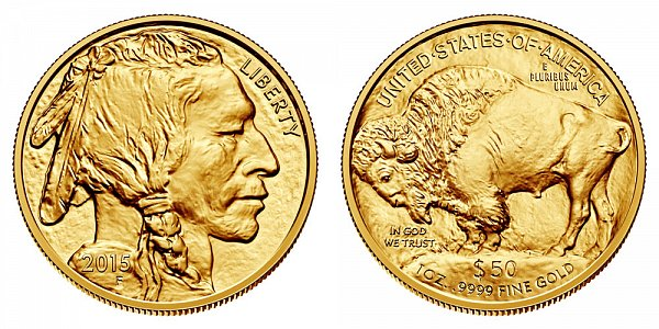 2015 American Gold Buffalo - Bullion $50 1oz One Ounce Gold