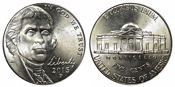 2015 P Jefferson Nickel