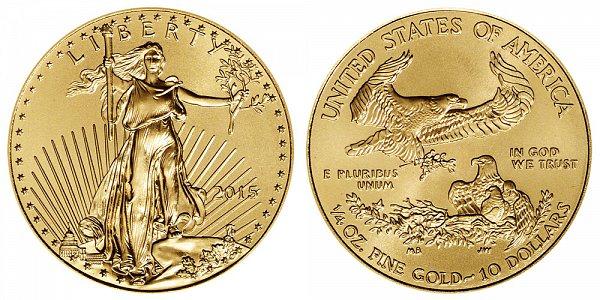 2015 Quarter Ounce American Gold Eagle - 1/4 oz Gold $10