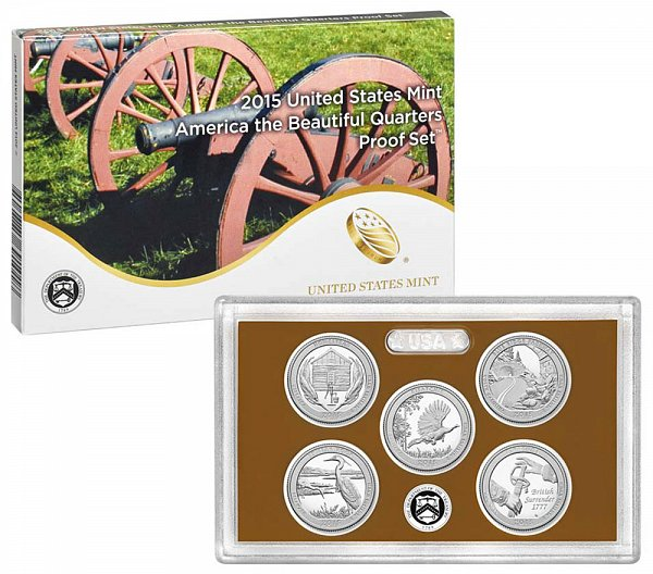 2015 America The Beautiful Quarters Proof Set - 2015-S 5 Piece Set