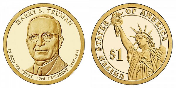 2015 S Harry S. Truman Presidential Dollar Coin - Proof