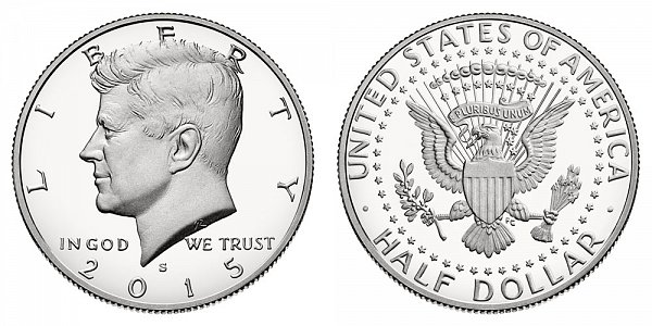 2015 S Silver Kennedy Half Dollar Proof