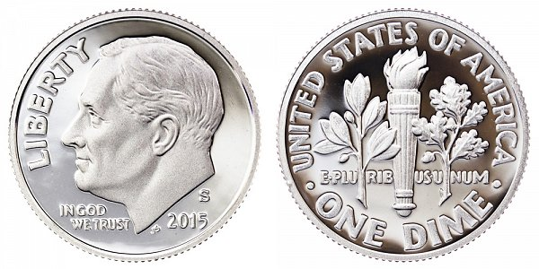 2015 S Roosevelt Dime Proof
