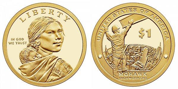 2015 S Proof Sacagawea Native American Dollar - Mohawk Ironworkers