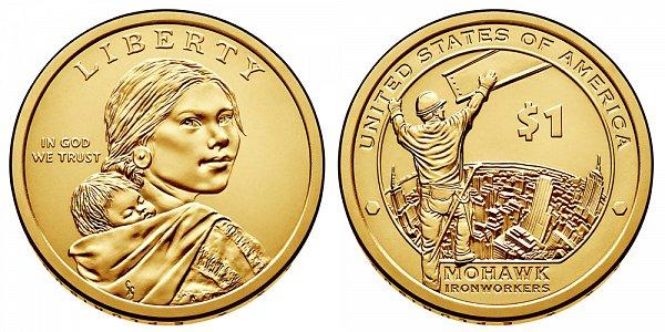 2015 D Sacagawea Native American Dollar - Mohawk Ironworkers