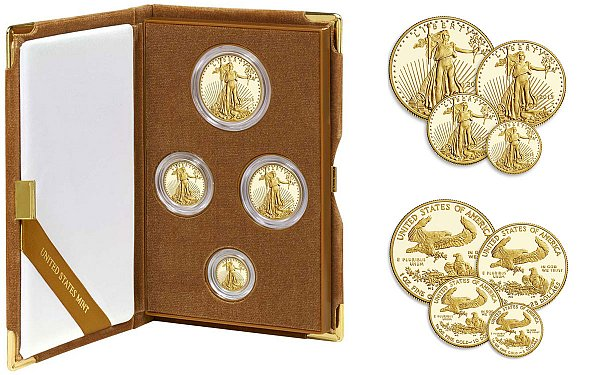 2015 W Gold American Eagle 4-Coin Proof Set