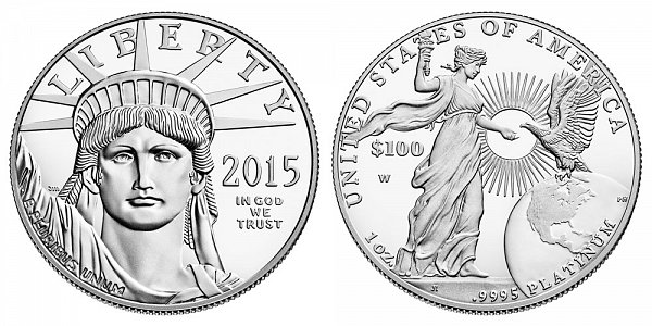 2015 W Proof One Ounce American Platinum Eagle - 1 oz Platinum $100