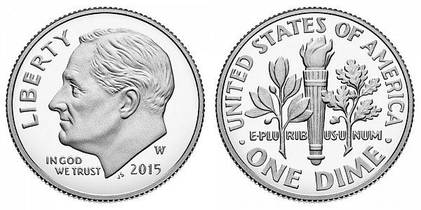 2015 W Proof Roosevelt Dime