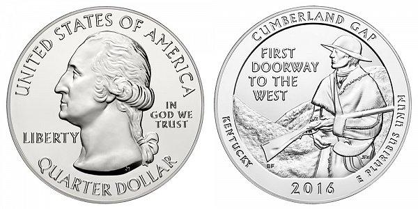 2016 Cumberland Gap 5 Ounce Bullion Coin - 5 oz Silver