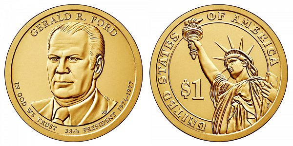 2016 D Gerald Ford Presidential Dollar