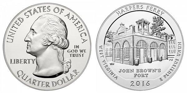 2016 Harpers Ferry 5 Ounce Bullion Coin - 5 oz Silver