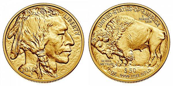 2016 One Ounce Gold American Buffalo - 1 oz Gold $50
