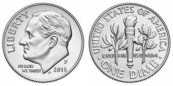 2016 P Roosevelt Dime