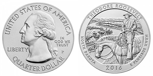 2016 Theodore Roosevelt 5 Ounce Burnished Uncirculated Coin - 5 oz Silver