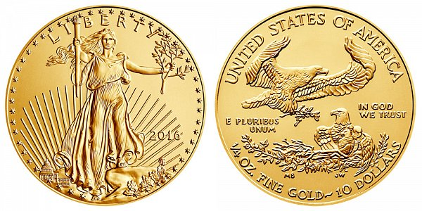 2016 Quarter Ounce American Gold Eagle - 1/4 oz Gold $10