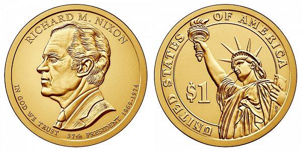 2016 D Richard Nixon Presidential Dollar