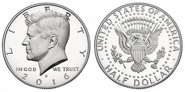 2016 S Silver Proof Kennedy Half Dollar