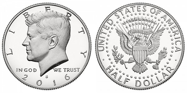 2016 S Proof Kennedy Half Dollar