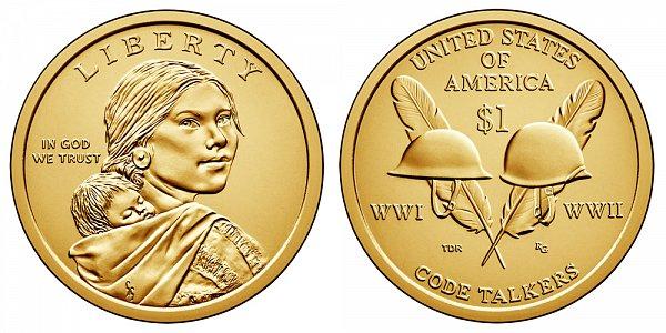 2016 P Sacagawea Native American Dollar - Code Talkers