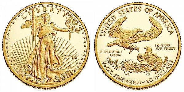 2016 Proof Quarter Ounce American Gold Eagle - 1/4 oz Gold $10