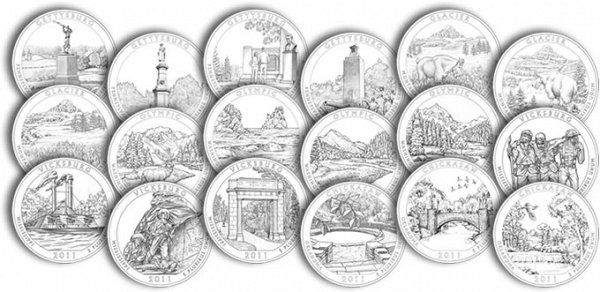 America The Beautiful Quarters National Park Quarters US Coin
