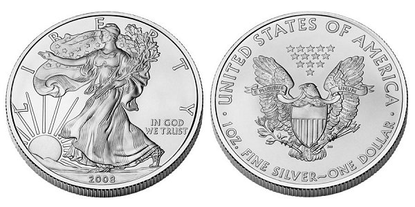 Silver American Eagle Bullion Coins One Troy Ounce US Coin