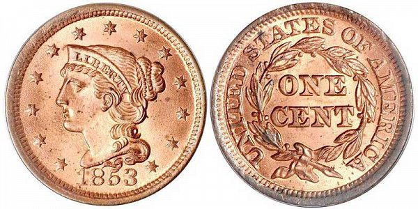 Braided Hair Liberty Head Large Cents Early Copper Penny US Coin