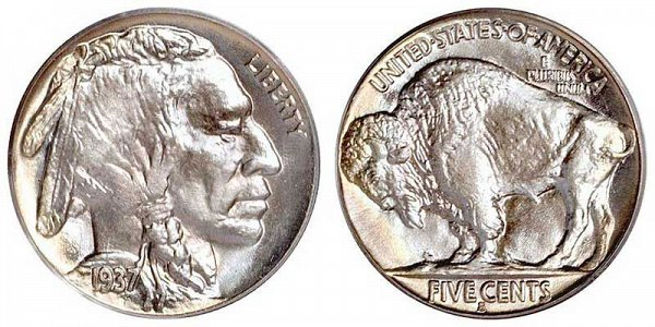 Buffalo Nickels Line Type US Coin
