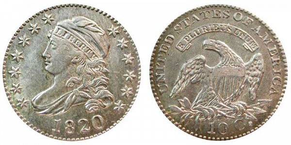 1820 Large 0 Capped Bust Dime