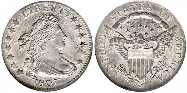 Draped Bust Dimes Heraldic Eagle Reverse US Coin