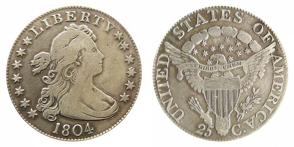 1804 Draped Bust Quarter - Heraldic Eagle Reverse