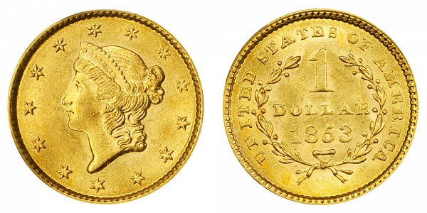 1853 Liberty Head Gold Dollar G$1
