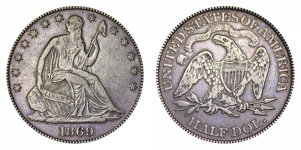 Seated Liberty Half Dollars Type 4 - Motto Above Eagle US Coin