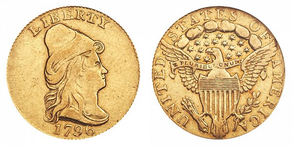 1796 Turban Head $2.50 Gold Quarter Eagle - No Stars - 2 1/2 Dollars