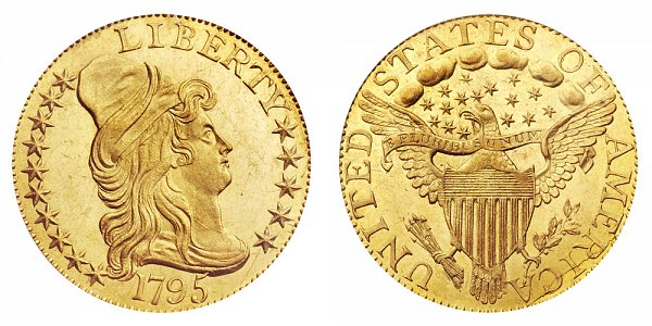 Turban Head Gold $5 Half Eagle Heraldic Eagle Reverse - Capped Bust - Head Facing Right US Coin