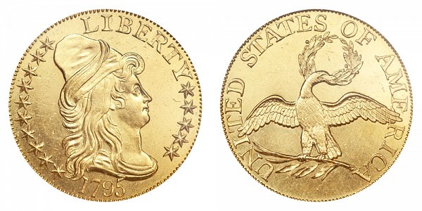 1795 Small Eagle - Turban Head $5 Gold Half Eagle - Five Dollars