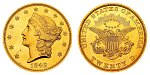 Coronet Head Gold $20 Double Eagle