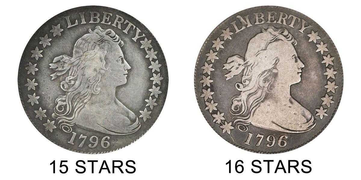 1796 Draped Bust Half Dollar 15 Stars Small Eagle Reverse