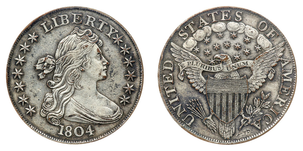 1804 Draped Bust Silver Dollars All Varieties Value And