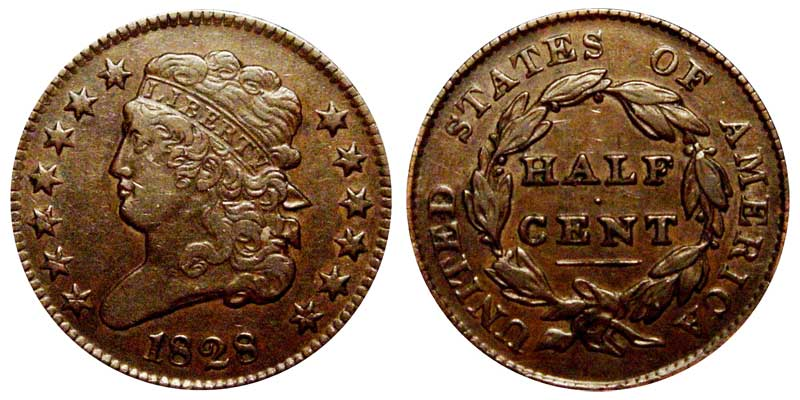 1828 classic head half cents 13 stars early copper half penny 1828 classic head half cent penny 13 stars publicscrutiny Image collections