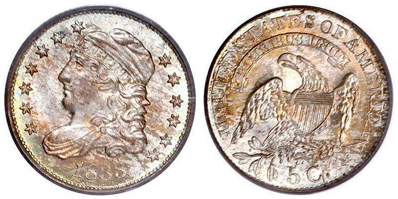 1833 Capped Bust Half Dimes Value And Prices