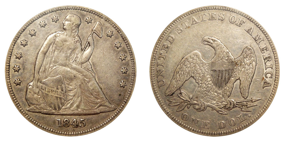 1845 Seated Liberty Silver Dollars Value And Prices