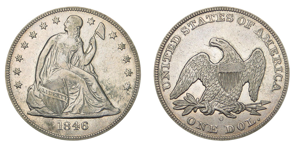 1846 O Seated Liberty Silver Dollar Coin Value Prices