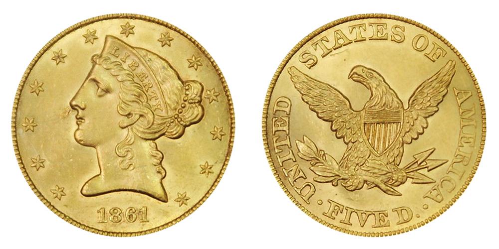 coronet head half eagle