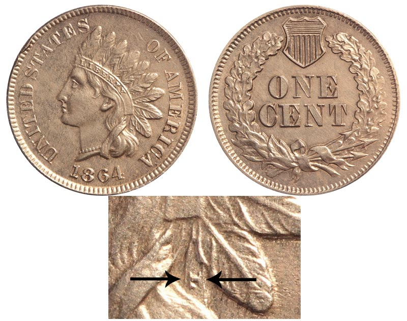1864 Indian Head Penny With L Coin Value Prices, Photos & Info