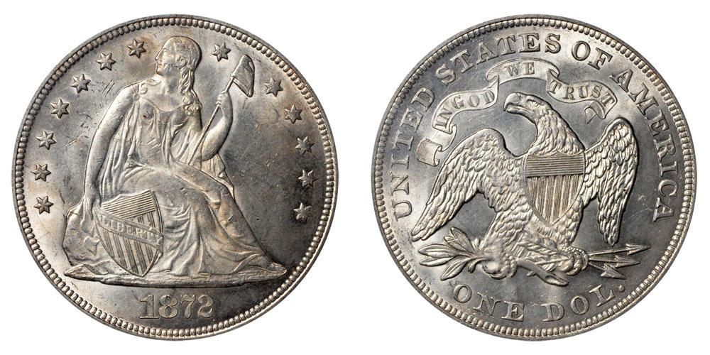 liberty seated dollar