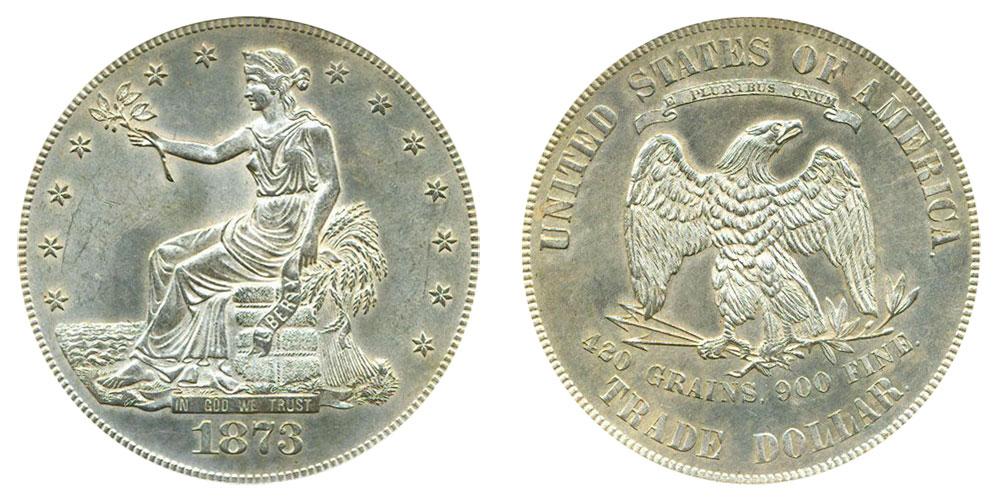 1873 Trade Silver Dollar Coin Value Prices, Photos & Info