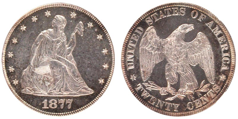 1877 Twenty Cents 20 Cent Pieces Value And Prices