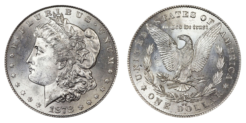 1878 Cc Morgan Silver Dollars Value And Prices