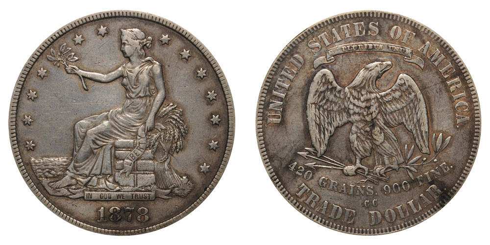 1878 Cc Trade Silver Dollars Value And Prices